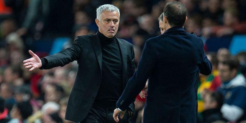 Roma coach José Mourinho renews his rivalry with Juventus boss Max Allegri