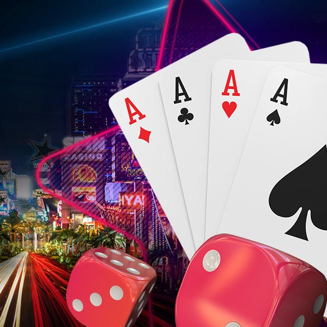 4 aces with Spin Casino background